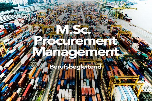 M. Sc. Procurement Management - AFUM Akademie für Unternehmensmanagement